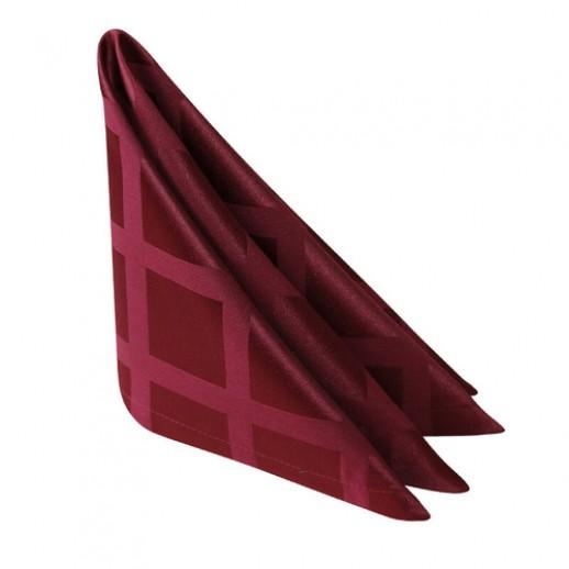 Салфетка 45*45см бордо клетка журавинка, Тканевые салфетки и скатерти из ткани