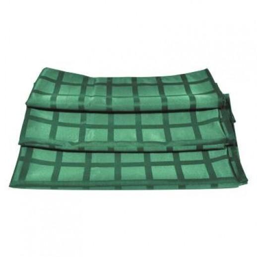 Салфетка 43*43 см темно-зеленая PL 99003573, Тканевые салфетки и скатерти из ткани