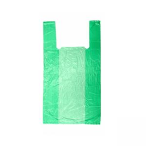 Пакет-майка 30*55*16 см 17 мкм зеленая 100 шт