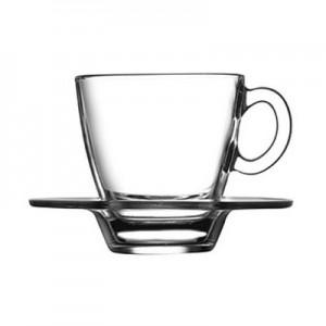 Кофейная пара 70 мл Аква прозр стекло Б 95756