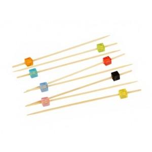 Пика 12 см Кристаллы квадратные бамбук 100 шт 10-1140