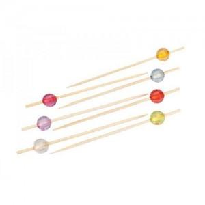 Пика 9 см Кристаллы круглые с гранями бамбук 100 шт 10-1138