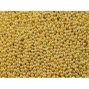 Шарики сахарные золотые 5 мм 100 гр 33111