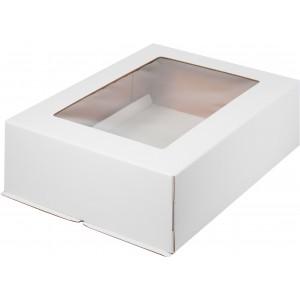 Короб картонный БЕЛЫЙ с окном 300*400*120 мм 020110