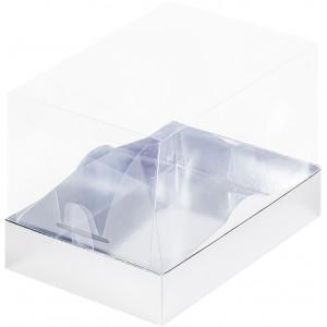 Упаковка под рулет с пластиковой крышкой 170*120*120 серебро 060841
