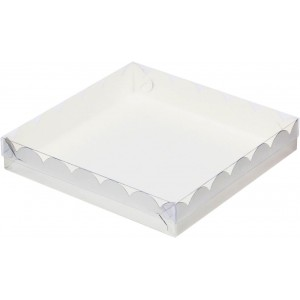 Упаковка для печенья и пряников СЕРЕБРО 155*155*35 мм 080411