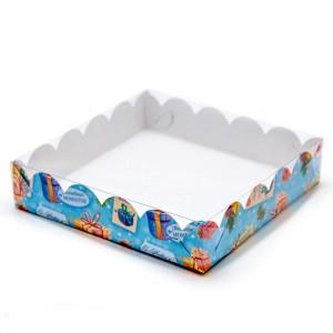 Упаковка для печенья и пряников (хорошему) 200*200*35 мм 080456