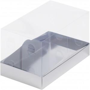 Упаковка под рулет с пластиковой крышкой 210*120*120 серебро 060846