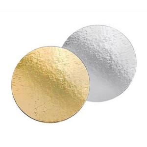 Подложка картон. круг №18 золото/серебро