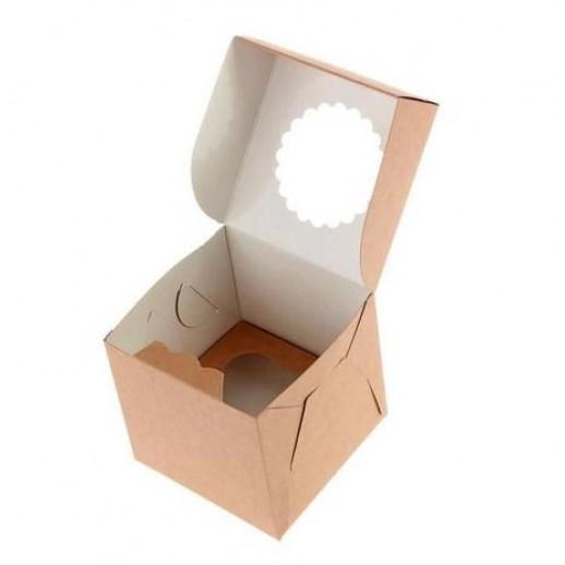 Упаковка для капкейков ECO MUF 1 100*100*100 мм, Тортницы, коробки для торта и пирожных