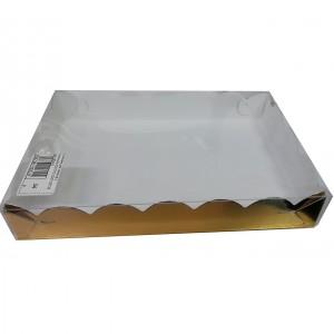 Упаковка для печенья и пряников ЗОЛОТО 220*150*35 мм 080442