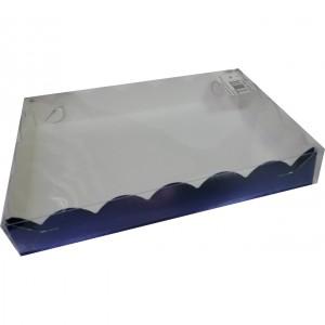 Упаковка для печенья и пряников СИНЯЯ 220*150*35 мм 080443
