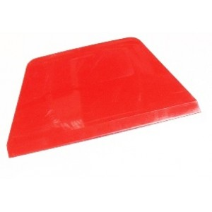Скребок пластик ТРАПЕЦИЯ красный 17788 22 см