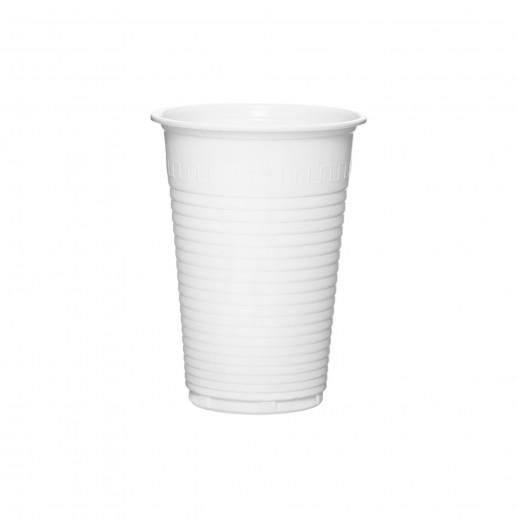 Стакан одноразовый 100 шт 200 мл ПЛАСТИК БЕЛЫЙ, Одноразовая посуда, пластиковые контейнеры