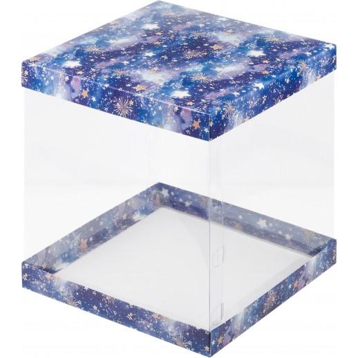 Упаковка для торта ЗВЕЗДНОЕ НЕБО 235*235*120 прозрачная 022180, Тортницы, коробки для торта и пирожных