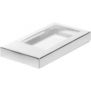 Упаковка для шоколадной плитки серебро 180*90*17 мм 060711