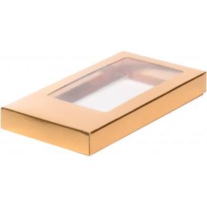 Упаковка для шоколадной плитки золото 160*80*17 мм 060702