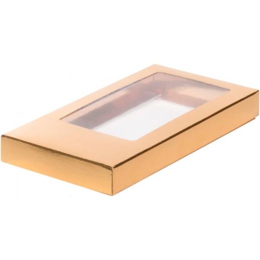 Упаковка для шоколадной плитки золото 160*80*17 мм 060702, Тортницы, коробки для торта и пирожных