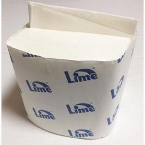 Туалетная бумага листовая 2-слойная белая 200л Lime короб 250840