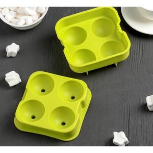 Форма для леденцов и мороженого ШАР 4 яч d=4,5см 861104
