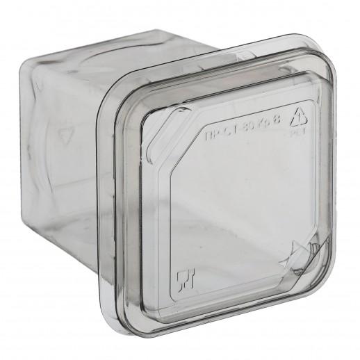 Контейнер одноразовый с крышкой 75*75*80 мм 150 гр 1 шт ПР-СТ-80, Тортницы, коробки для торта и пирожных
