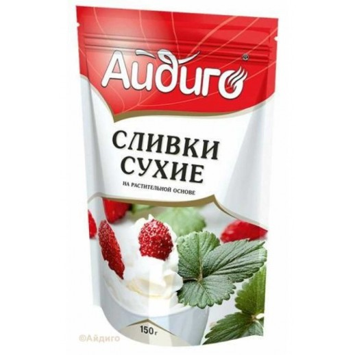 АЙДИГО Сливки сухие растительные дой пак 150 гр, Кондитерские ингредиенты