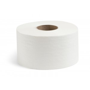 Туалетная бумага рулон 190 м 1-сл белая НРБ 210115 12/уп