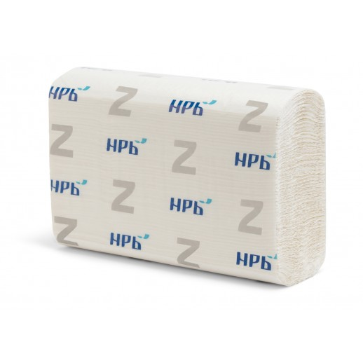 Полотенца листовые Z 1-слойные белые 200 л НРБ-Барская 20/уп 25Z117/25Z112, Туалетная бумага, бумажные полотенца