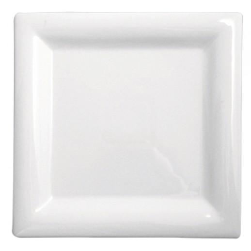 Тарелка квадратная 18*18 см Kunst Werk PL 99004030, Фарфоровая посуда KUNST WERK P. L.
