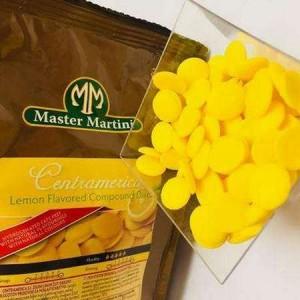 Глазурь кондитерская Мастер Мартини вкус лимон диски 0,250 кг Италия 4057