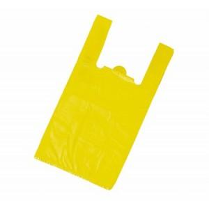 Пакет-майка 30*55*16 см 17 мкм желтая 100 шт