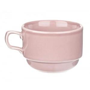 Чашка чайная Браво АКВАРЕЛЬ розовая 250 мл Принц несорт ИЧШ 30.250