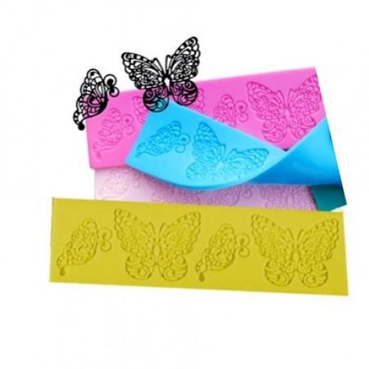 Коврик для мастики и айсинга Бабочки 20*29 см 14714, Айсинг - ажурные детали для торта