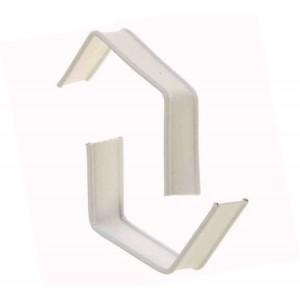 Клип-лента белая в нарезке 5 см загнутая 10  шт