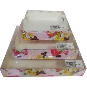 Упаковка для печенья и пряников С Праздником 200*200*35 мм 080459