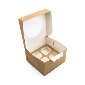 Упаковка для капкейков ECO MUF 4 160*160*100 мм