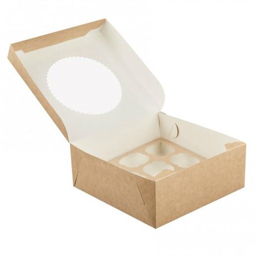 Упаковка для капкейков ECO MUF 12 330*250*100 мм, Тортницы, коробки для торта и пирожных