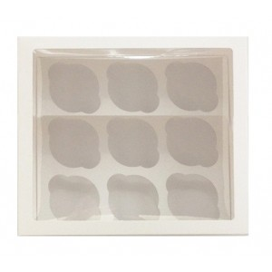 Упаковка для капкейков на 9 шт ОКНО 250*250*100 мм