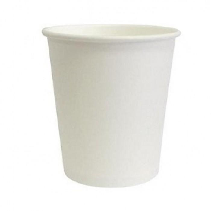 Стакан одноразовый для кофе БЕЛЫЙ 300 мл 50 шт, Одноразовая посуда, пластиковые контейнеры