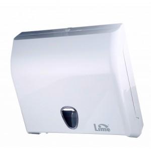 Диспенсер для полотенец V сложения LIME белый 59201