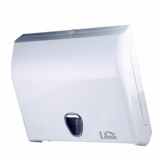 Диспенсер для полотенец V сложения LIME белый 59201, Диспенсеры для полотенец, мыла, туалетной бумаги