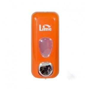 Диспенсер для жидкого мыла заливной Lime 0,5л оранжевый COLOR 71401ARS