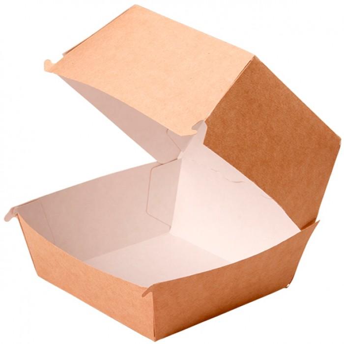 Упаковка ECO BURGER XL 112*112*112 мм, Картонная упаковка, бумажные крафт пакеты