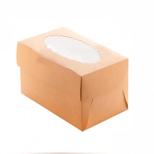 Упаковка для капкейков ECO MUF 2 100*160*100 мм, Тортницы, коробки для торта и пирожных