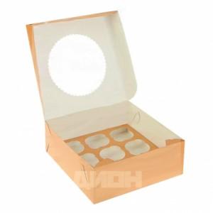 Упаковка для капкейков ECO MUF 9 250*250*100 мм
