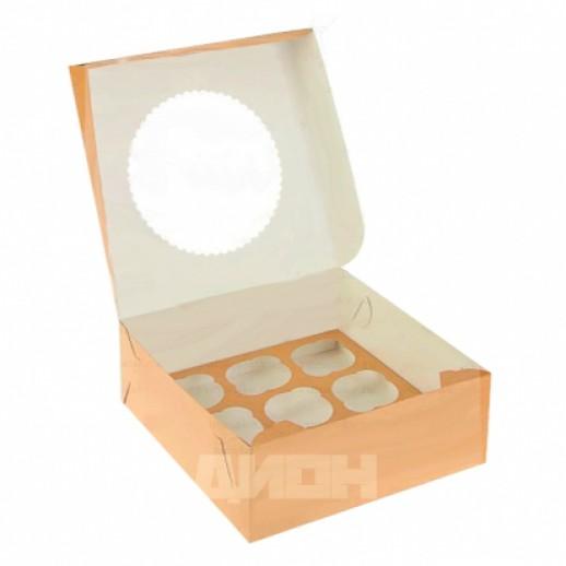 Упаковка для капкейков ECO MUF 9 250*250*100 мм, Тортницы, коробки для торта и пирожных