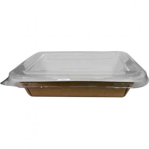 Упаковка ECO SealSalad 500 140*90*42 мм, Картонная упаковка, бумажные крафт пакеты