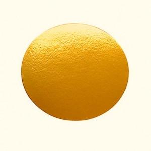 Подложка золото/картон круг №9 0,8 мм