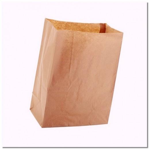 Упаковка ECO BAG 32*20*34 см без ручек, Картонная упаковка, бумажные крафт пакеты