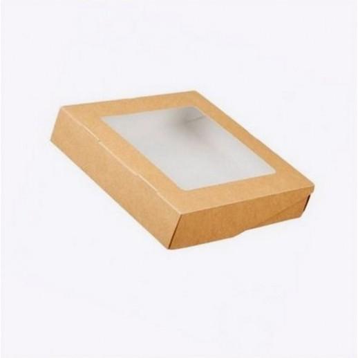 Упаковка ECO TABOX PRO 1500 200*200*45 мм, Картонная упаковка, бумажные крафт пакеты